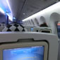 Inside view of the Boeing 787 Dreamliner